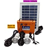 Belifal Solar Home Lighting System/Solar Powerpack 54Watts With 2Pcs DC LED Bulb & Solar Panel