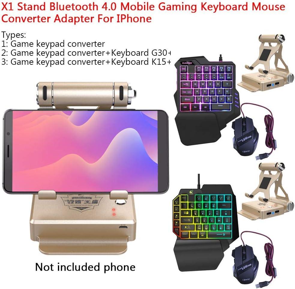 szdc88 Gamepad Teclado Ratón Convertidor, Bluetooth 4.0 Móvil Gamepad Controlador X1 Soporte para Android iOS Teléfono para LOL/Pubg/Wow/Dota/OW/Fps Juego - 1, Free Size