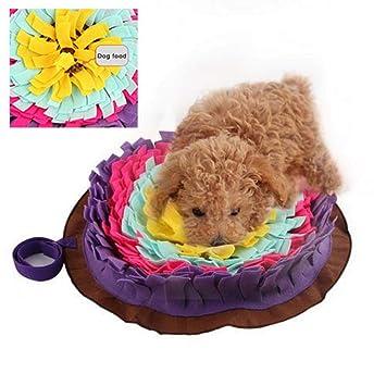 Gereton Colorful Pet Snuffle Mat Tejida a Mano del Perro Sniffing Pad Soft Pet Nariz Trabajo