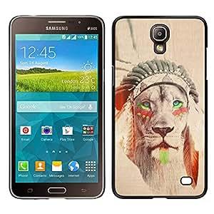 iBinBang / Funda Carcasa Cover Skin Case - Indien de l'Amérique Sépia Feather - Samsung Galaxy Mega 2