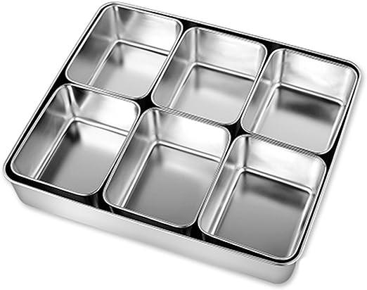 Caja de condimentos de Acero Inoxidable Caja de condimentos de condimentos Caja de Material de Caja de condimentos de Cocina (Size : L34cm): Amazon.es: Hogar