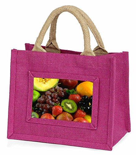 Advanta Fruit Little Mädchen Einkaufstasche Weihnachten Geschenk, Jute, pink, 25,5x 21x 2cm