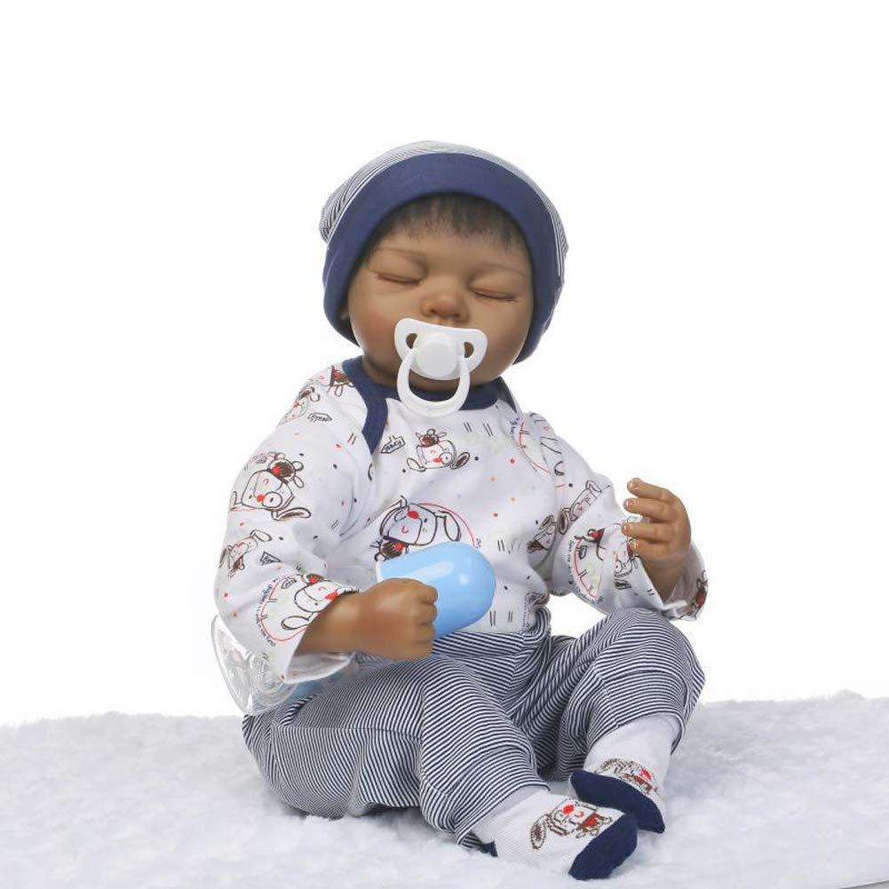 IIWOJ Bella Reborn Baby Doll, Silicone 19,69 Pollici Eye-Chiuso Bambola-Realistico Neonato/Ragazza del Regalo, Puntelli Fotografia