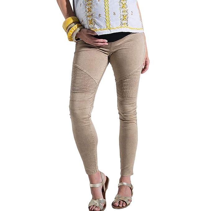 Premamá Pantalones para Mujer Cintura Altos Elástica ...