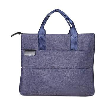 LEEQ Maletín para Ordenador portátil, 1 Unidad, Organizador de Documentos de Oficina y Viajes, Color Azul(Azul ): Amazon.es: Hogar