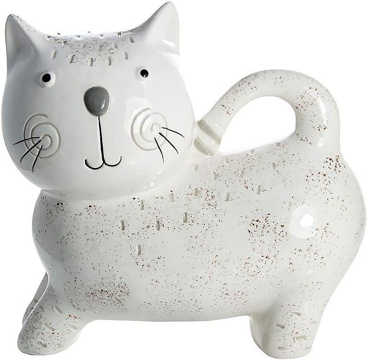 SPOTTED DOG GIFT COMPANY Hucha Gato, huchas Originales Infantiles de cerámica Blanca para niños o Adultos, Regalo para Amante de los Gatos niña y niño: Amazon.es: Hogar