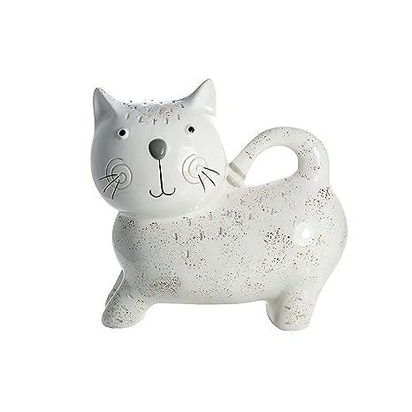 SPOTTED DOG GIFT COMPANY Hucha Gato, huchas Originales Infantiles de cerámica Blanca para niños o