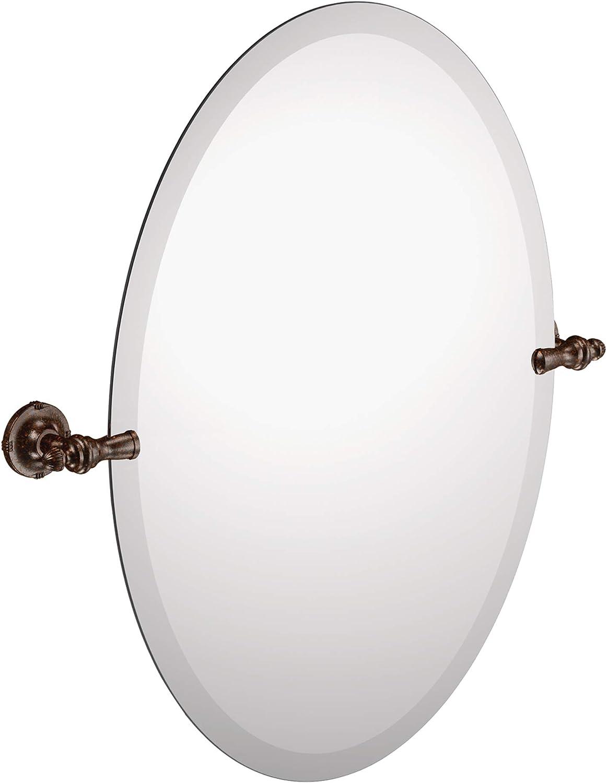 Amazon Com Moen Dn0892orb Gilcrest 26 Inch X 23 Inch Frameless Pivoting Bathroom Tilting Mirror Oil Rubbed Bronze Home Improvement