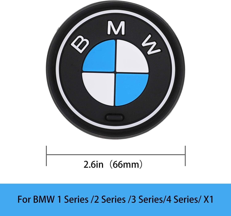 2x BMW M Anti Slip Mat 66mm Pad Cup Holder Silicone 1 2 3 4 Series X1 M1 M3 M4