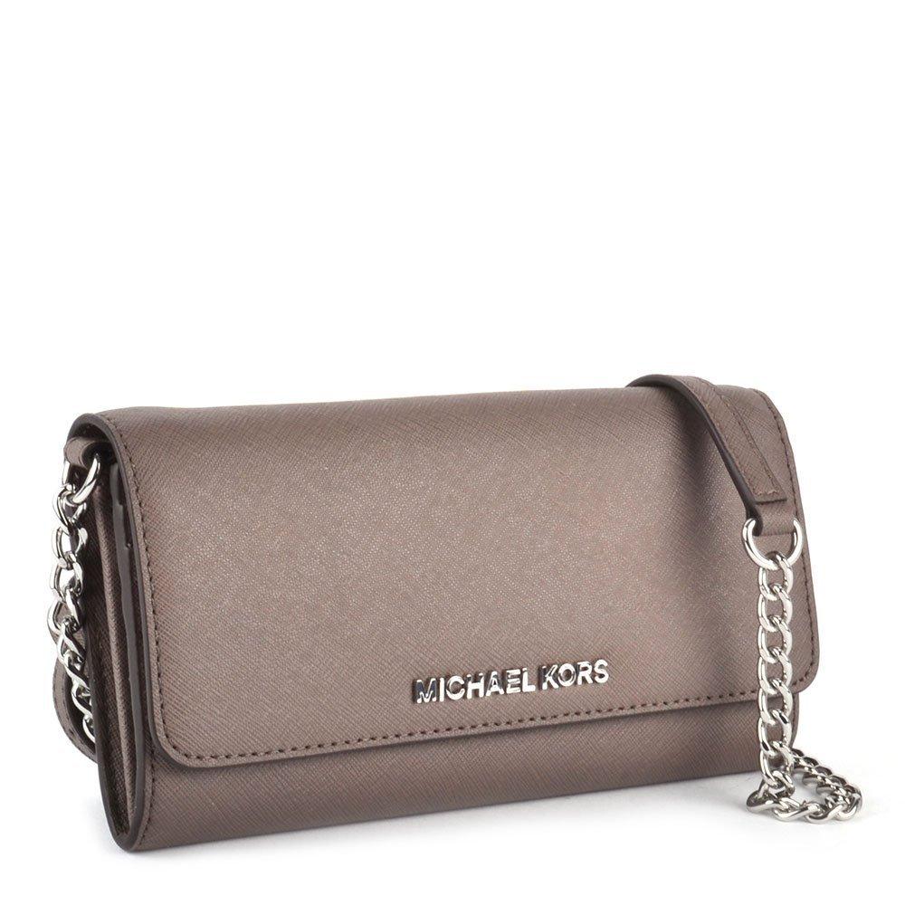 a9b68d8f82a2 MICHAEL Michael Kors Jet Set Travel Cinder Leather Chain Wallet one size  Cinder  Amazon.co.uk  Shoes   Bags