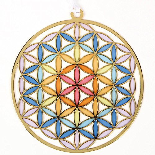 """『うさやusa-ya』 from Japan Flower of Life Stained Glass Style Ornament 3.14"""""""