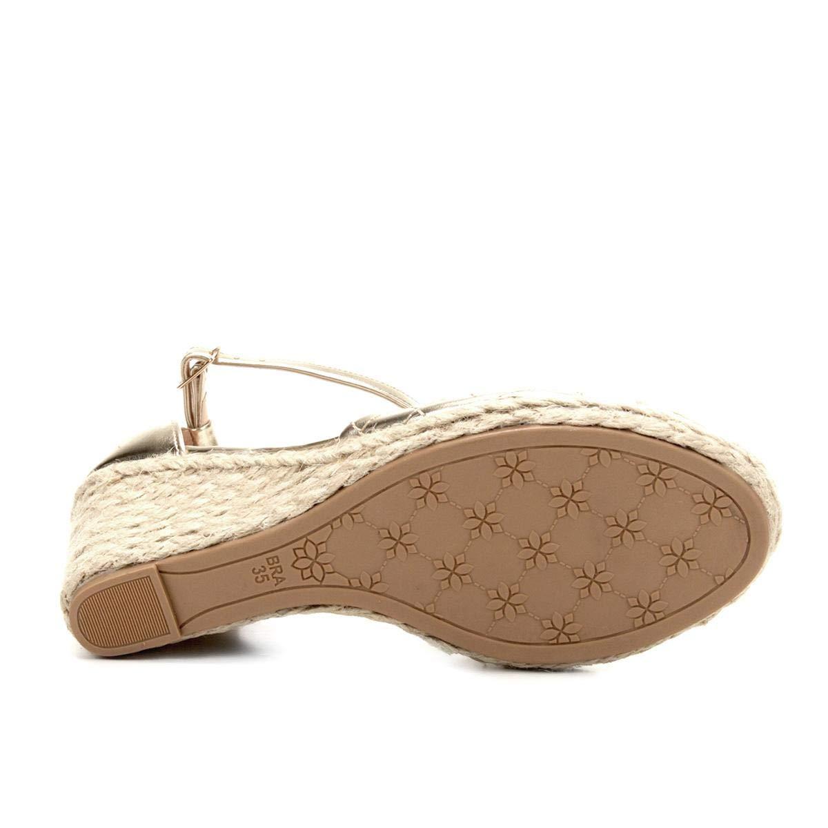 61f460912c Sandália Anabela Shoestock Matelassê Corda Feminina - Dourado - 36:  Amazon.com.br: Amazon Moda