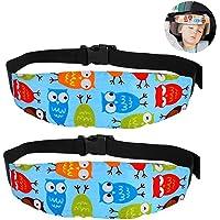 Soporte del cuello de la cabeza del asiento de seguridad para bebés, posicionador del sueño del asiento de seguridad para niños (2 paquetes)