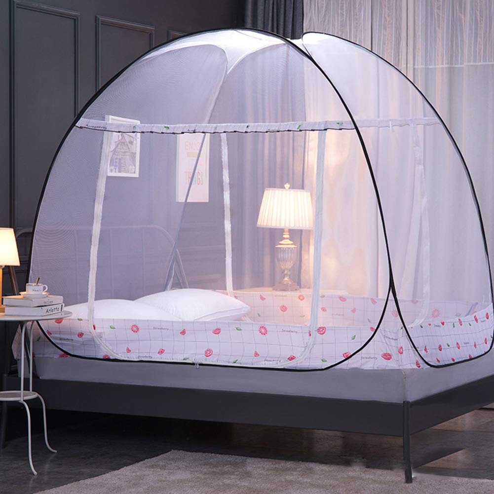 HCMPM Mosquito net yurt Bed Head pop-up Foldable Double Door Free Installation Student Dormitory Foldable Bottom net Anti-Mosquito nets,Bpomelo,180cm