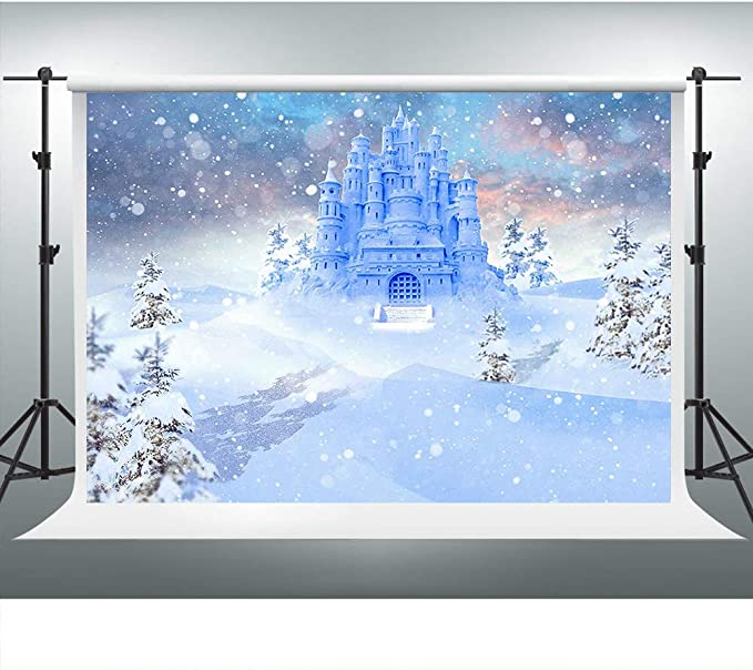 VVM 7 x 5 Ft Frozen fondo de fotografía del mundo del hielo y la nieve fondo blanco castillo para fotos YouTube fondo GYVV064: Amazon.es: Electrónica