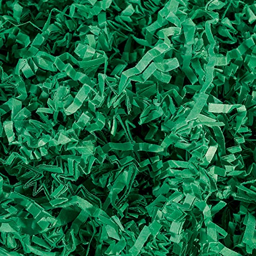 (Crinkle Cut Paper Shred Filler (1/2 LB) for Gift Wrapping & Basket Filling - Green | MagicWater Supply)