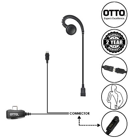 Amazon Com Otto Loc 2 Wire Surveillance Swivel Earpiece For