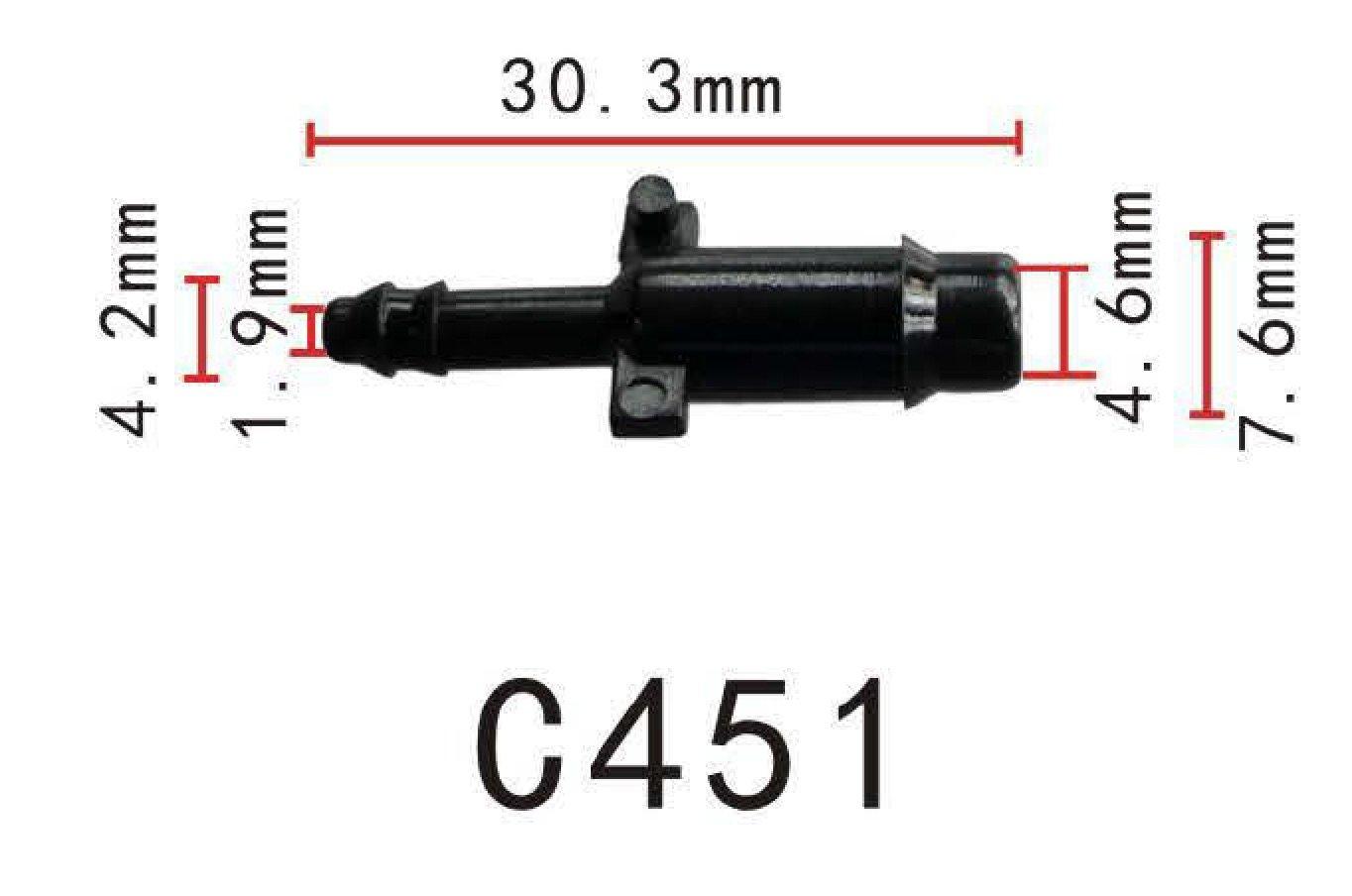 OD = 6mm Packung zu 2 , Autobahn88 3-Weg Y-St/ück Messing Kupfer Vakuumschlauch Tischler 1//4