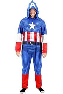 bdcb362cd Hooded Marvel Comics Iron Man Onesie Pajama for Men at Amazon Men s ...