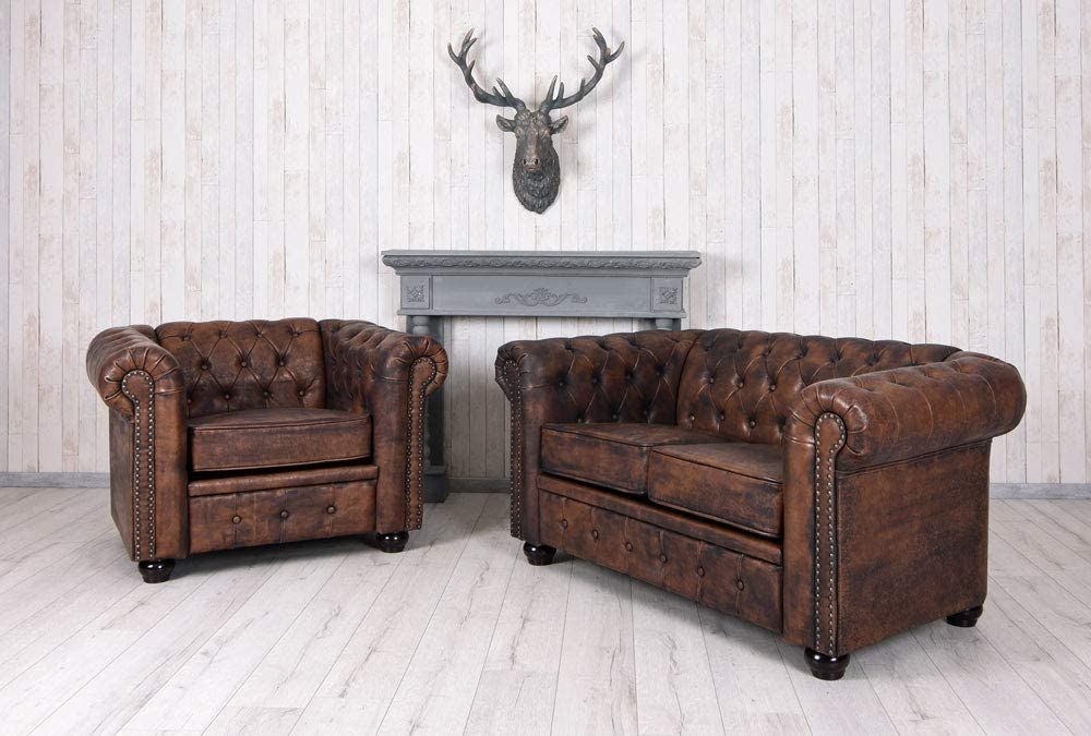 Chesterfield Palazzo Fauteuil Club en Cuir