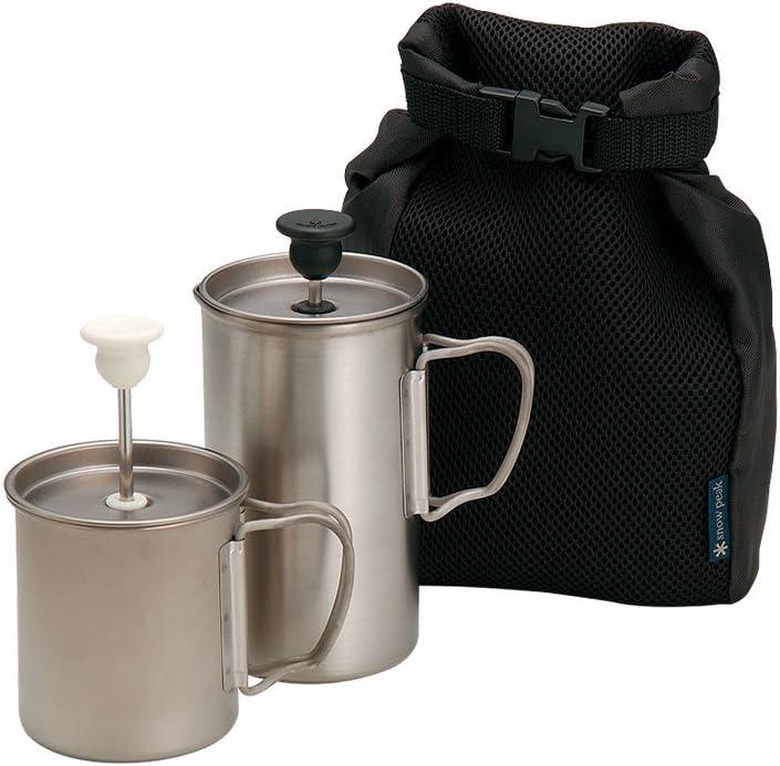 Image of Coffee & Tea Pots Snow Peak Titanium Cafe Latte Set 3 Cups