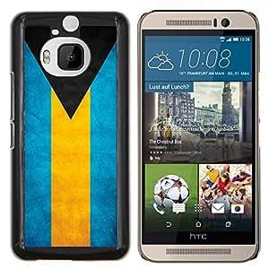 EJOOY---Cubierta de la caja de protección para la piel dura ** HTC One M9Plus M9+ M9 Plus ** --Bandera de la nación País Bahamas Nacionales