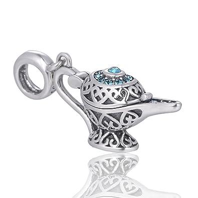 Argent Disney Lampe Charms Aladdin Conte Cadeau De FéeBijoux En 7vYbf6gy