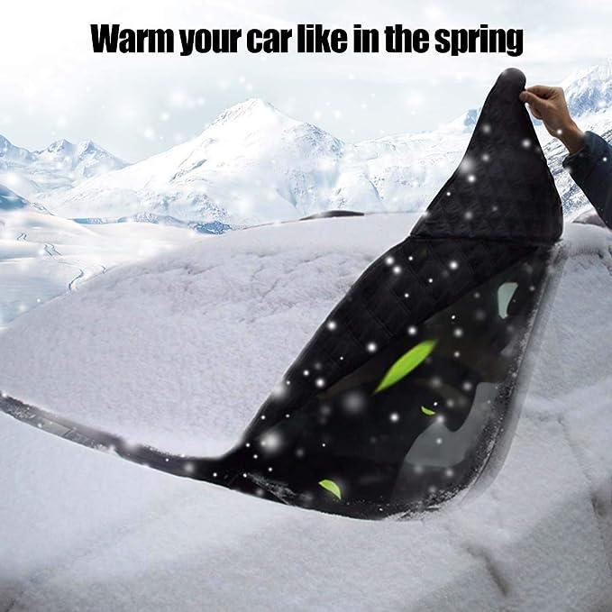 Amazon.es: VIKEA Auto Completo Parabrisas Cover, Frost Espejo Nieve Techo Double Side Ice Shield Diseño, protección Solar, Agua, Polvo - Apto para la ...