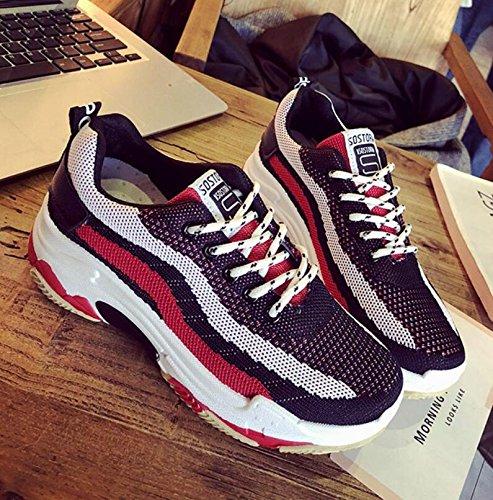 Scarpe da Punta outdoor Walking piatte Sneakers scarpe Black Shoes GAOLIXIA Scarpe donna Pu Bianco Comode traspiranti rotonda Summer Nero W0xnORqdq