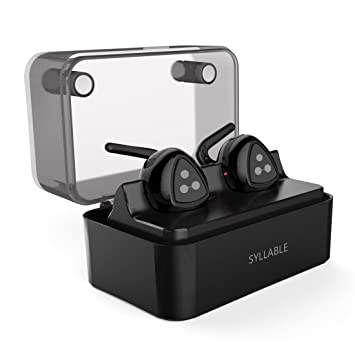 Auriculares Bluetooth EstšŠreo, Syllable D900 mini Auriculares deportivos in ear Bluetooth 4.1 Manos Libres con microfono con Caja de Carga para iPhone y ...