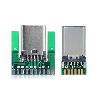 5pcs DIY placa micro USB male plug connectors kit with covers Black
