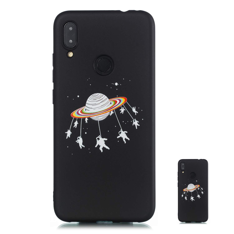 Note 7S HopMore Compatible avec Coque Xiaomi Redmi Note 7 7 Pro Silicone Noir /Étui Xiaomi Note 7 Motif Dr/ôle TPU Souple Etui Antichoc Housse pour Filles Femmes Gar/çons Hommes Heartbeat