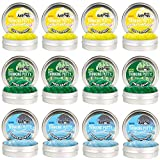 Crazy Aaron's Thinking Putty - Easter Trio 12 Pack - Spring Showers, Fresh Grass and Cheep Cheep Sparkle 2'' Mini Tins - Perfect as Easter Basket Stuffer!