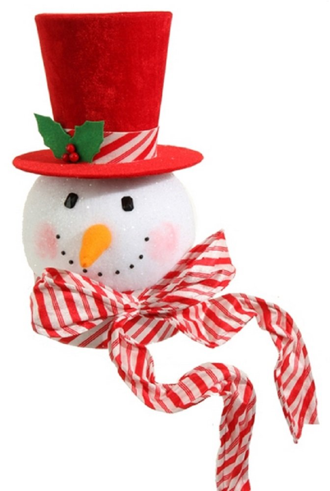 Snowman Head Christmas Tree Topper • Best Christmas Gifts And ...