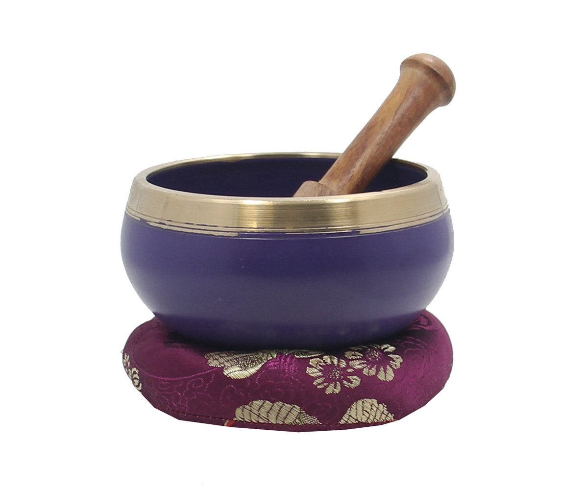 DharmaObjects Tibetan Heart Chakra Premium Singing Bowl Set Lungta Imports