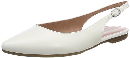 Tamaris 29407 Sandali con Cinturino alla Caviglia Donna Bianco White