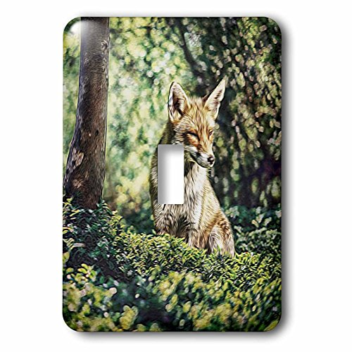 3dRose Andrea Haase Animals Illustration - Wildlife Fox Illustration - Light Switch Covers - single toggle switch (lsp_282464_1) by 3dRose