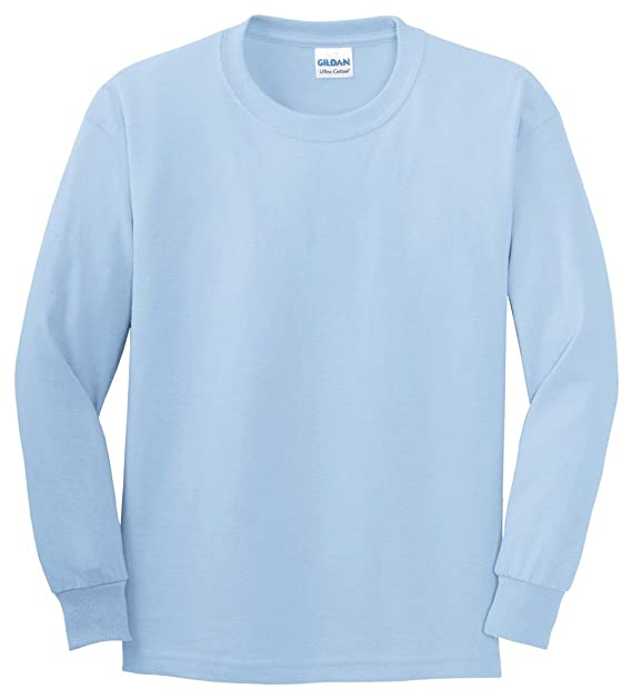 Amazon.com  Gildan Ultra Cotton Youth 6 oz. Long-Sleeve T-Shirt ... 8779015e369