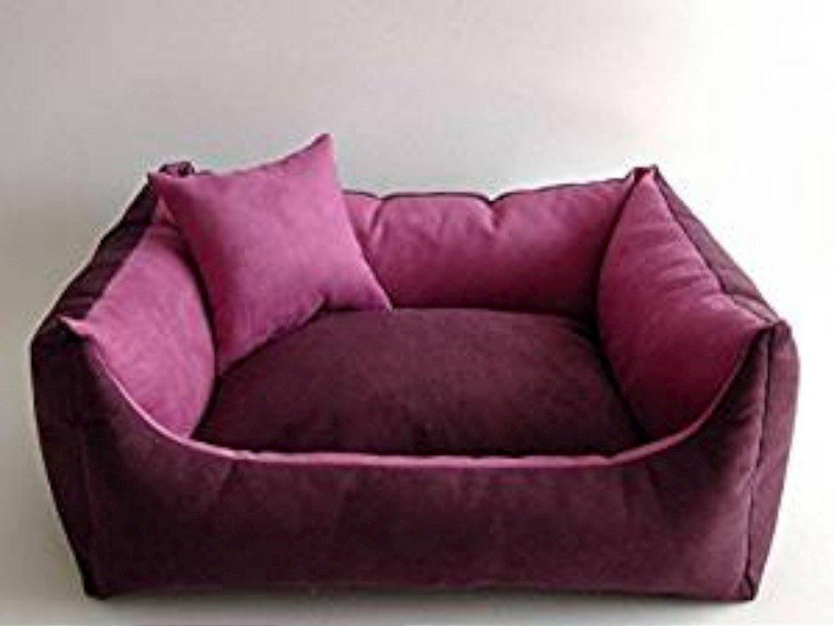 Cama para perros + Perros Cojín perro Sofá para perros Animales cama, distintos tamaños y colores (4 - 90 cm x 65 cm x 25 cm, 8 - Ciruelas - Color Rosa): ...