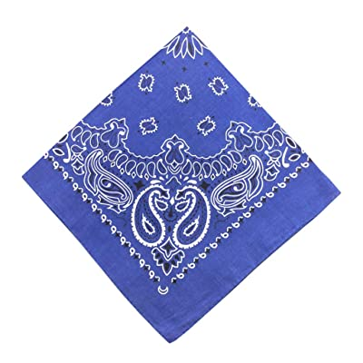 Moilant 100% Cotton Paisley Print Head Wrap Scarf Wristband Soft Bandanas: Clothing [5Bkhe2000966]