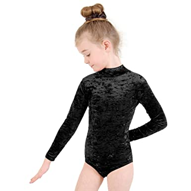 cef3fa143205 Dance Gear Zoe Children s Velour Long Sleeved Polo-Neck Leotard ...