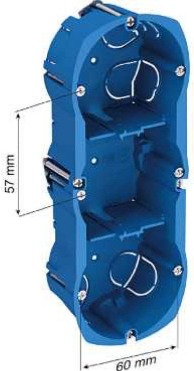 schneider multifix 3 postes boite cloison s/èche profondeur 40 mm diam/ètre 67 mm