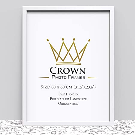 Crown White Photo Frame for 80 x 60 cm (31.5x23.6 Inches) Picture ...