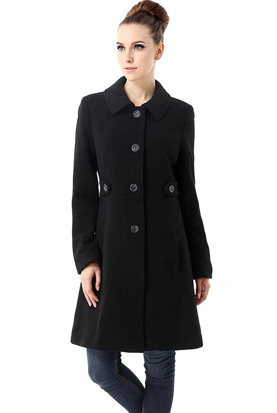 592d991ae BGSD Women's Heather Wool Blend Walking Coat (Regular Plus & Short)
