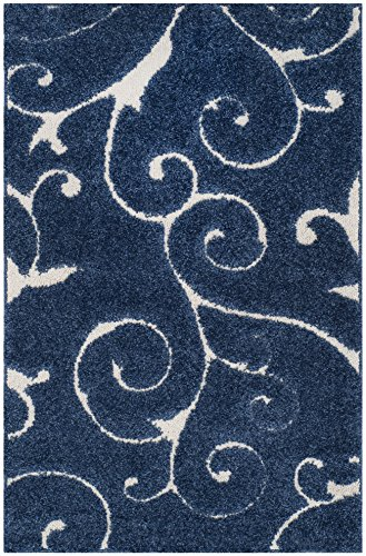 Safavieh Shag Collection SG455-6511 Dark Blue and