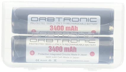 Amazon com: 3400mAh Battery ORBTRONIC Protected Button Top
