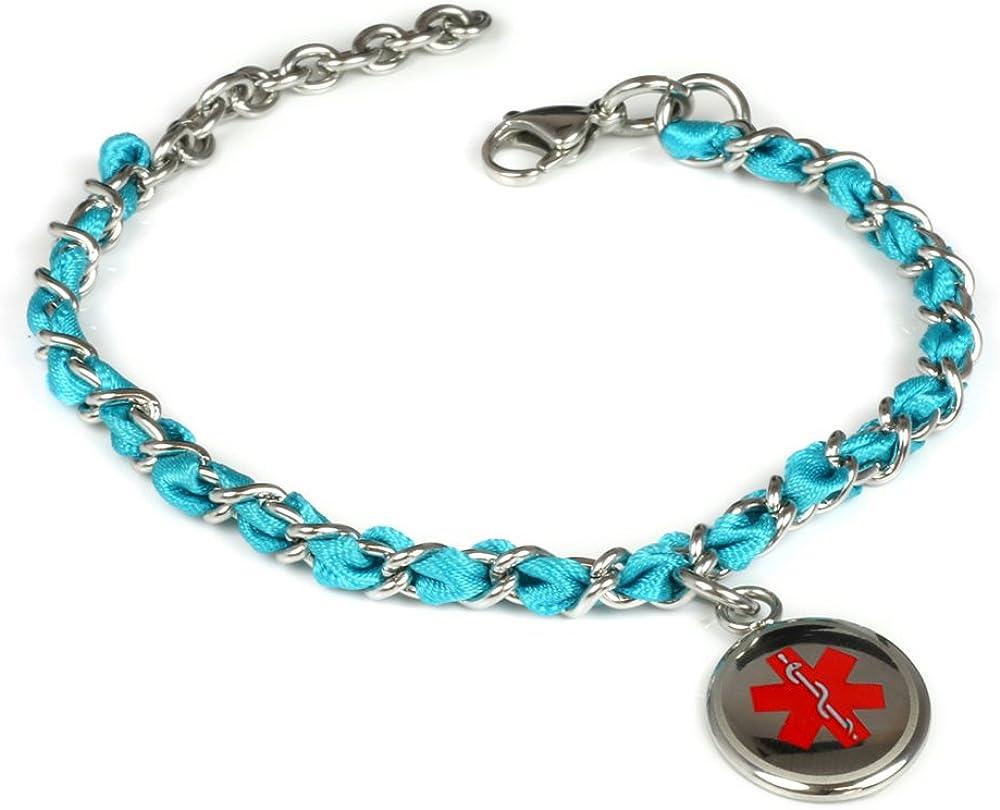 My Identity Doctor – Custom Engraving Medical Alert Bracelet – Silk Woven Steel