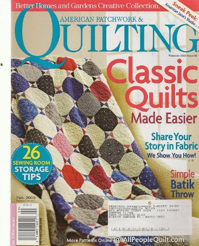 American Patchwork & Quilting, February 2009 (Better Homes ... : better homes and gardens quilting - Adamdwight.com