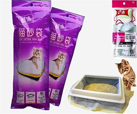 Manfâ Bolsas de Basura para Gatos 2 Paquetes (14 Bolsas), Bolsas de Basura