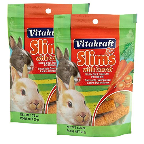 (2 Pack) Vitakraft Rabbit Slims, 1.75 Ounces each
